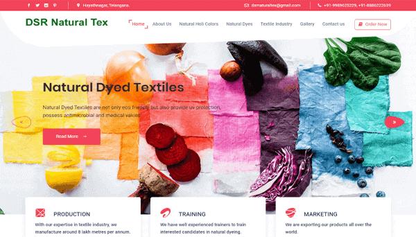 Website Hosting - DSR Natural Tex