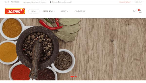 E-Commerce Website Development - Joshi's Masala Stores