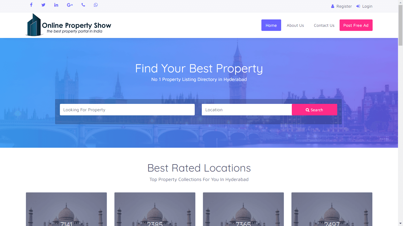 Website Designing & SSL Certificate - Online Property Show