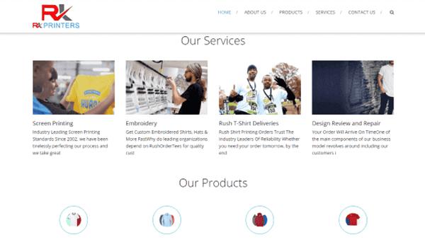 Website Designing Service - RK Printers